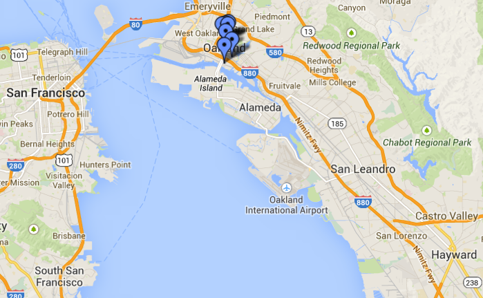oakland_haywood_map